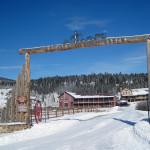 winter gate shot